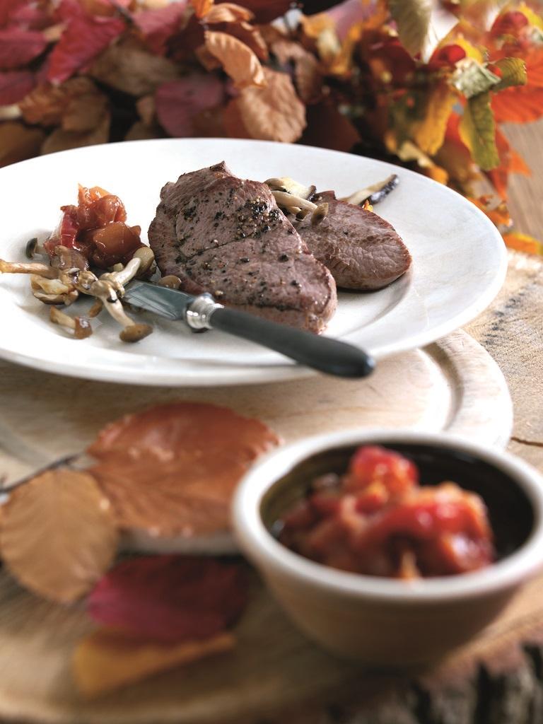 Welsh Lamb Leg Steaks with Autumn Chutney