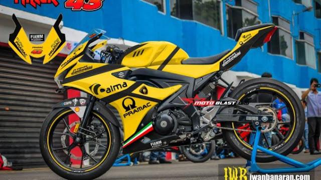 Modifikasi Striping Suzuki GSX-R150 Ducati