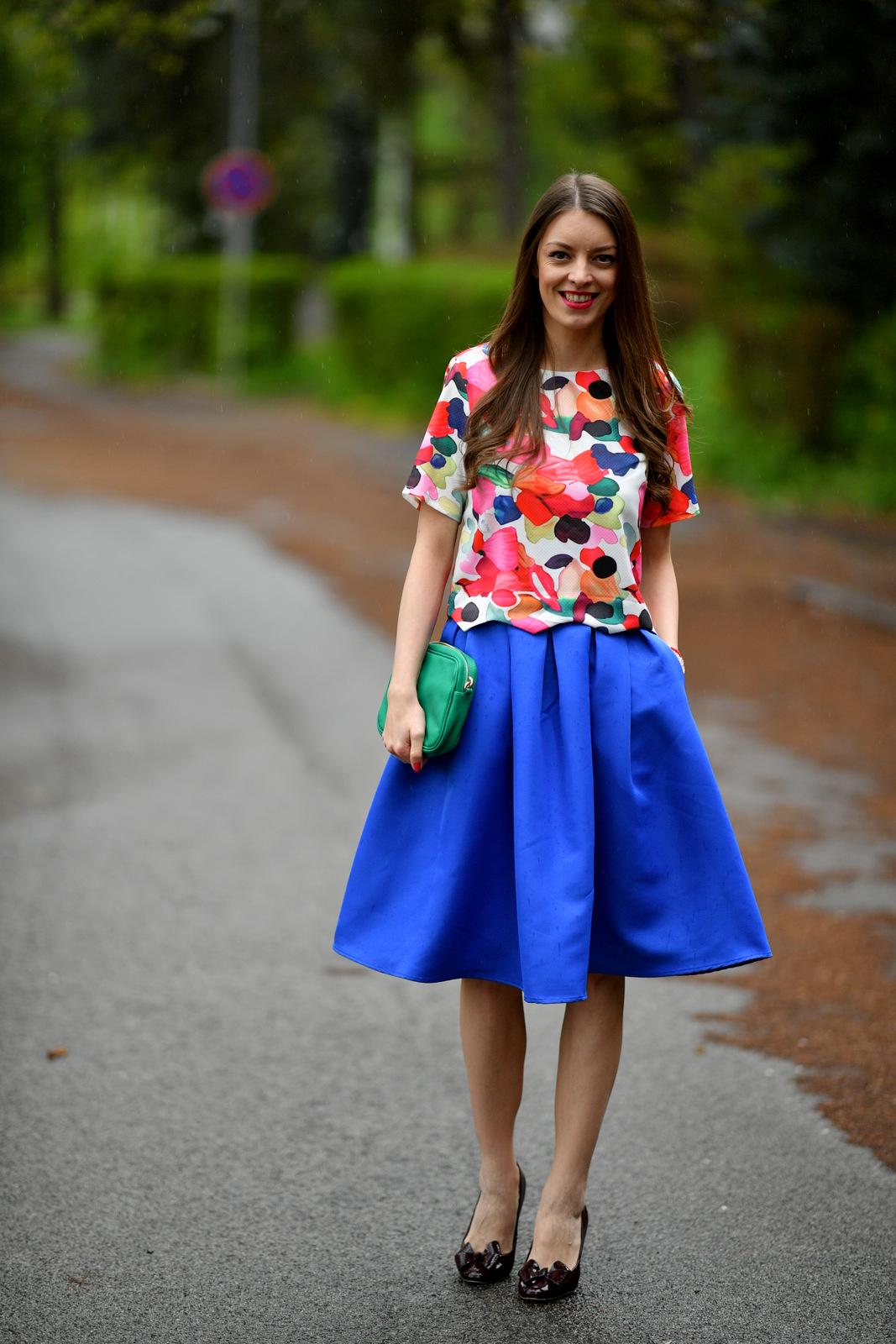 0074057617 Mademoiselle IVA by Ivana Klepáčová  pestrofarebný jarný outfit ...