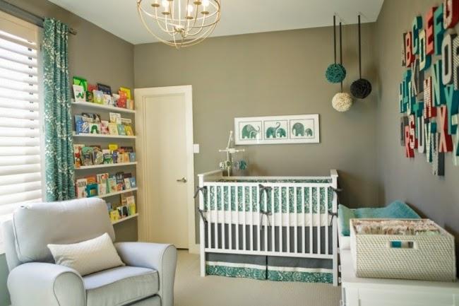 Cuartos de beb en turquesa y gris dormitorios colores y for Cuarto color gris