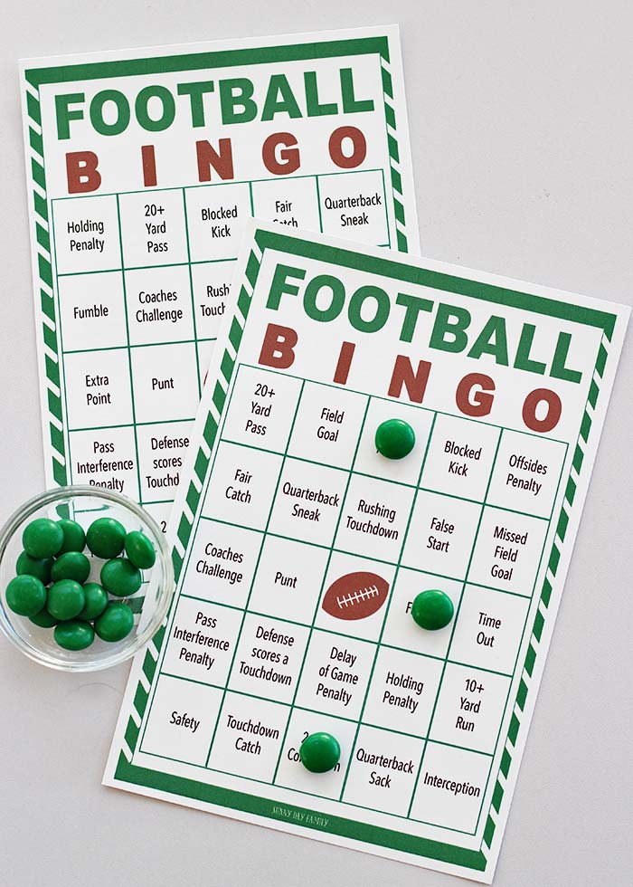It's just a picture of Fan Free Printable Football Bingo Cards