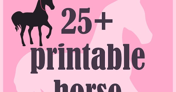 Round Up Of 25 Printable Horse And Pony Themed Freebies