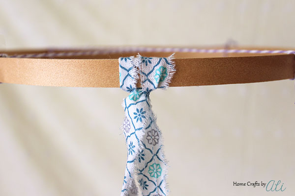 how to make a fabric strip chandelier