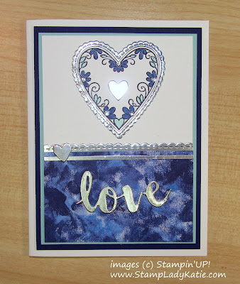 Card for wedding or anniversary made with Stampin'UP!'s Sunshine Wishes Thinlits and Be Mine Dies and Meant to Be Stamp Set