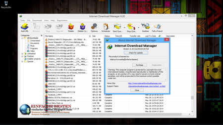 Registrasi internet download manager
