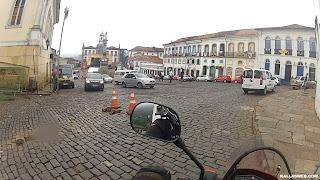 Praça central de Ouro Preto/MG.