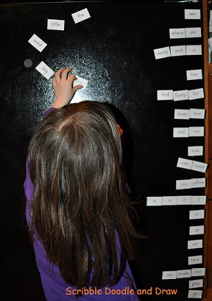 Make you own magnetic sight words and stick them on the fridge or whiteboard