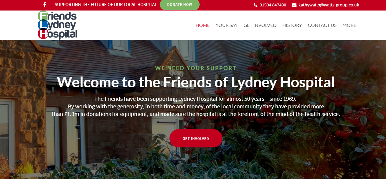 Friends of Lydney Hospital Weebly Web Design