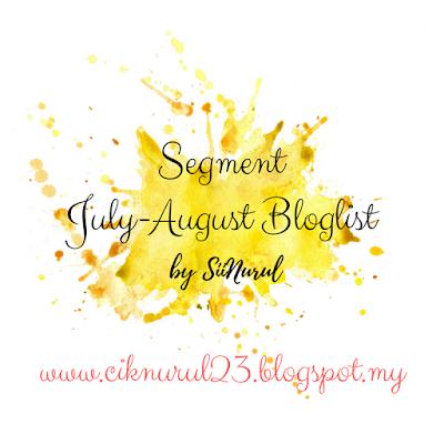 """""""Segment July-August Bloglist By Sii Nurul"""""""