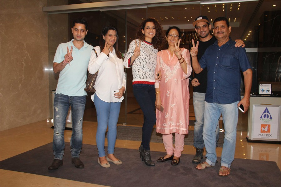 Kangana Ranaut Spotted with Her Family at Yauatcha Bandra BKC
