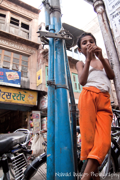 impoverished indian kid looking at camera