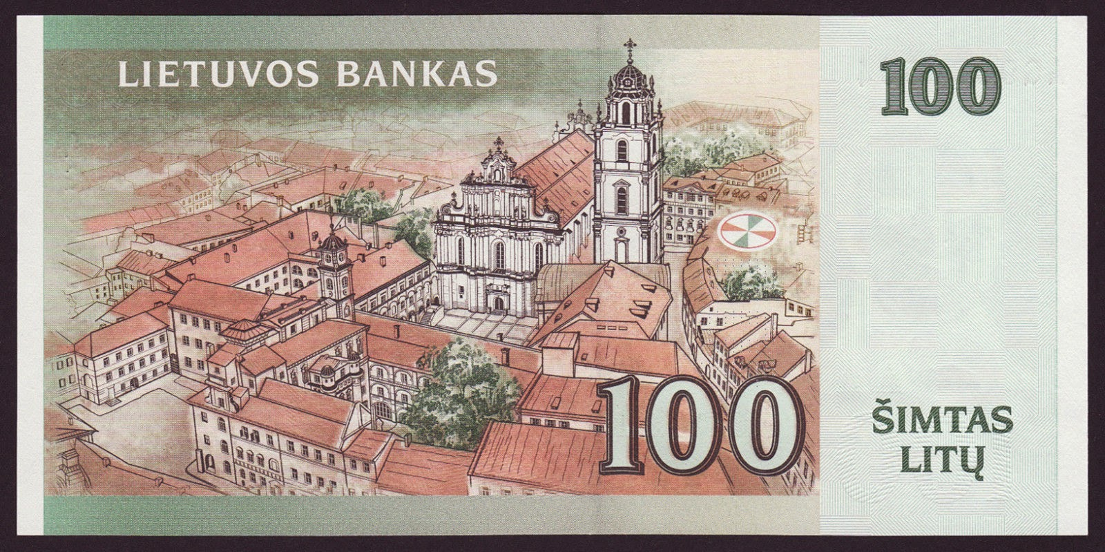 Banknotes of Lithuania 100 Litu banknote