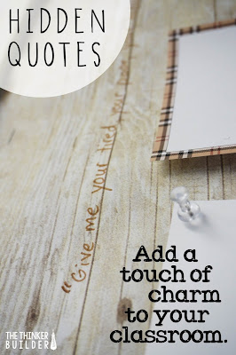 hidden inspirational quotes add a touch of charm to your