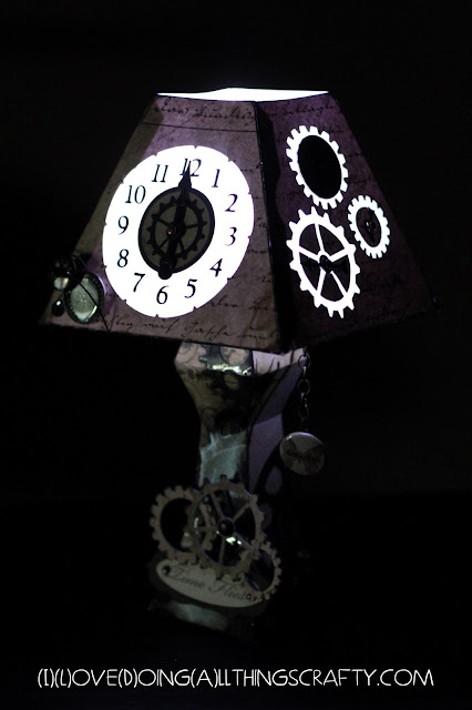 Paper Clock Lamp | SVGCuts Challenge Entry