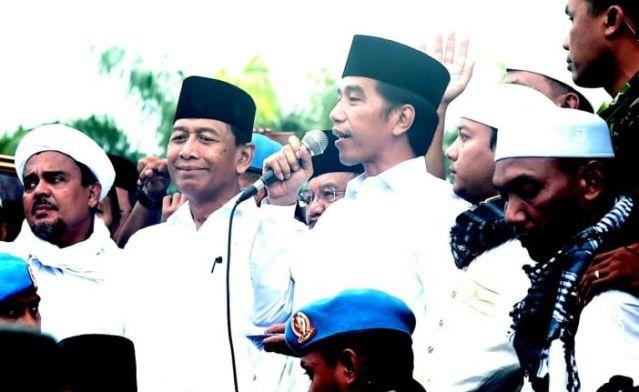 Lucunya Habib Rizieq Saat Dihalangi Wiranto untuk Dekati Jokowi