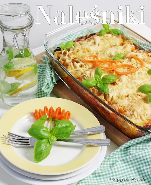 danie z naleśników, naleśnikowa zapiekanka, zapiekanka z kurczakiem i warzywami, obiad, daylicooking