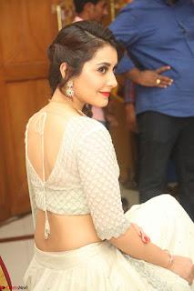 Raashi Khanan looks stunning in Crop Top Deep neck Choli Ghagra Transparent Chunni WOW ~  Exclusive Celebrities Galleries 013