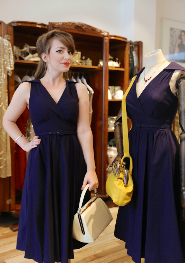 The Stop Staring NY Lady Dress in navy