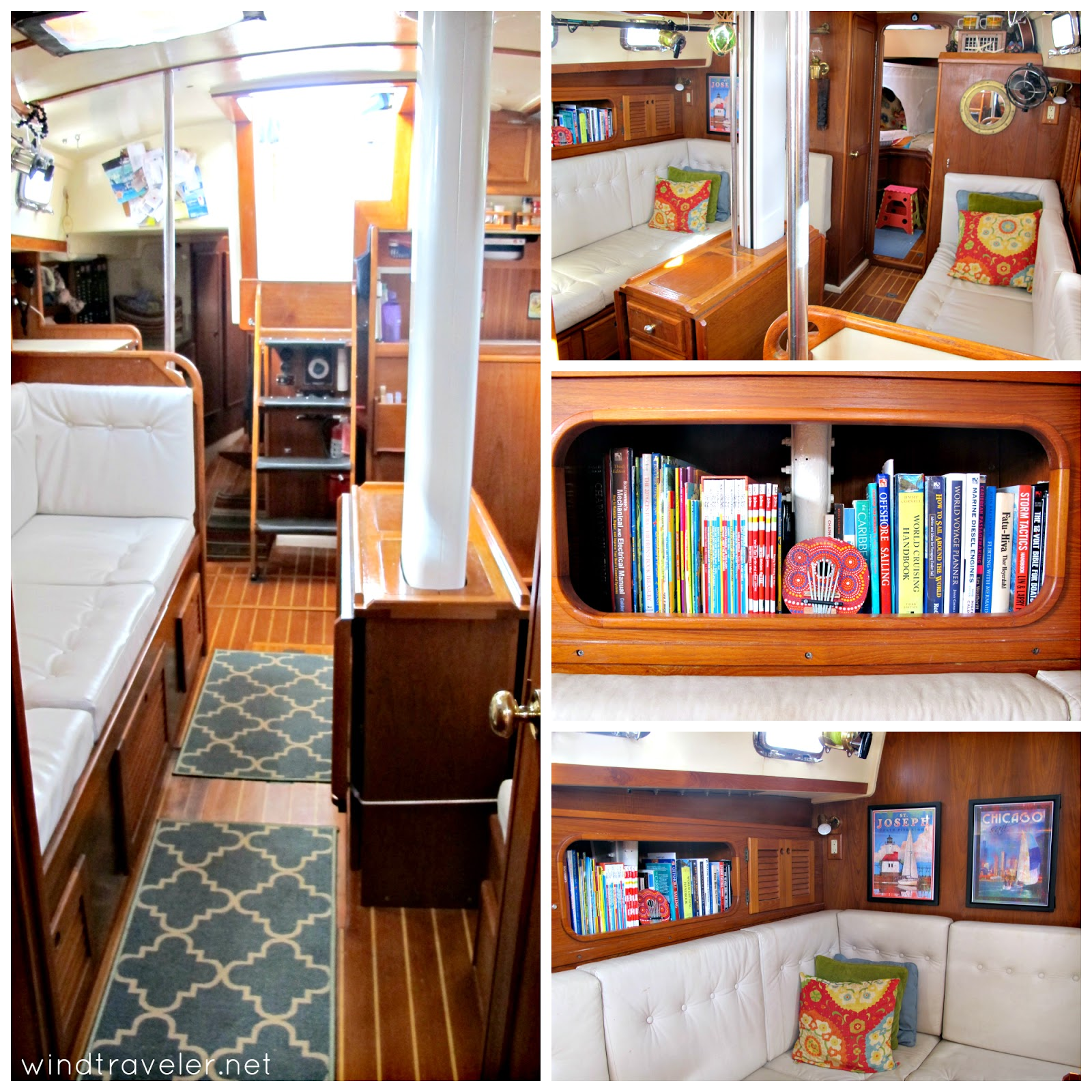 Windtraveler: Our Boat Interior: A Photo Tour