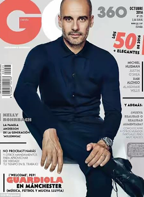 Man. City coach Pep Guardiola covers GQ magazine (photos)