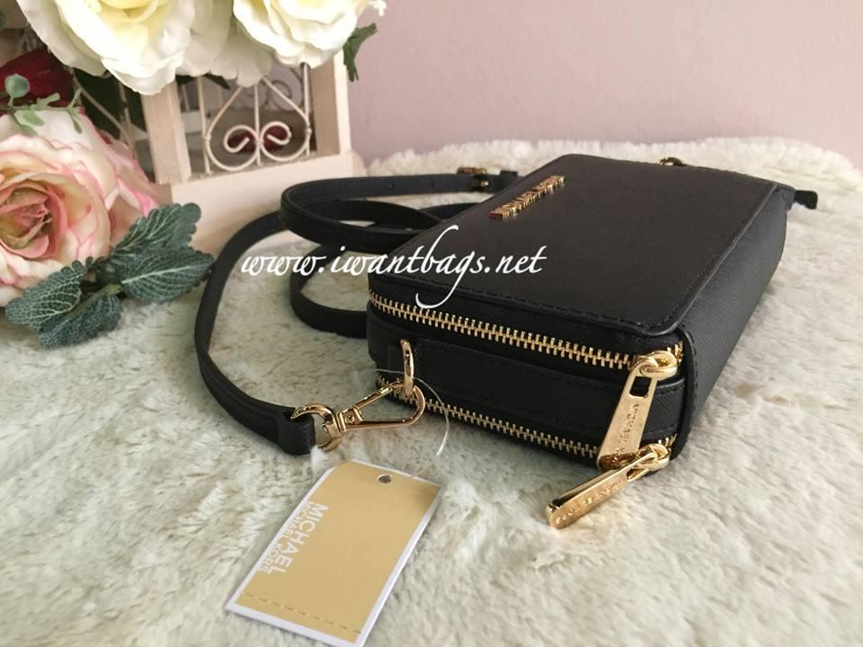 6dc927694aa76e Michael Kors Jet Set Travel MF Phone Crossbody Bag-Black