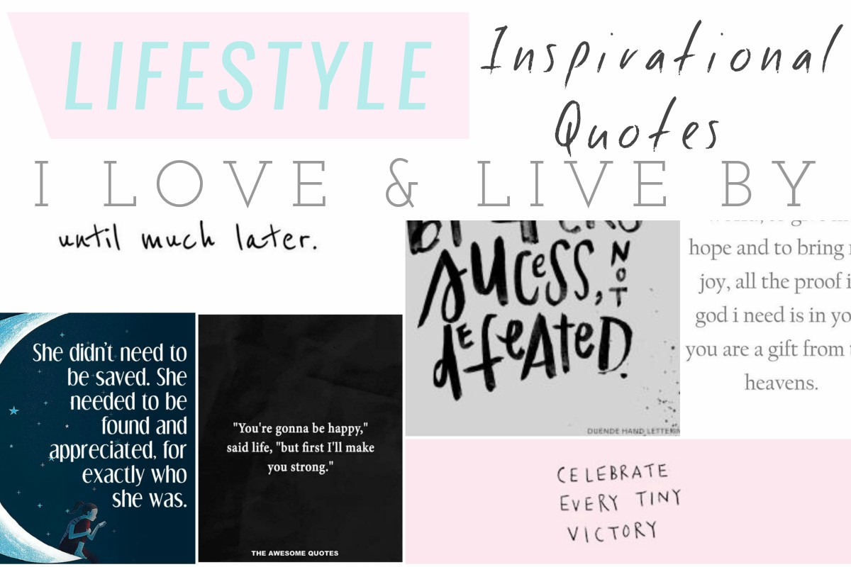 Love And Inspirational Quotes 6 Inspirational Quotes I Love & Live Seek My Scribbles