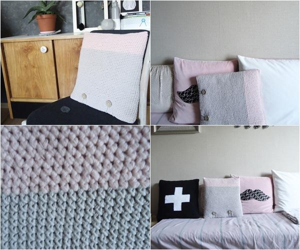 piękna szydełkowa poduszka hand made