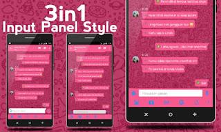 Download BBM MOD iMessenger Cute Tema Pink v3.0.1.25 APK Terbaru