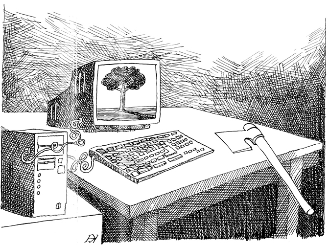 Карикатура: Новица Коцић