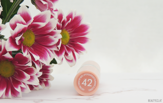 rimmel kate moss lasting finish 42 nude lipstick revue avis test swatch