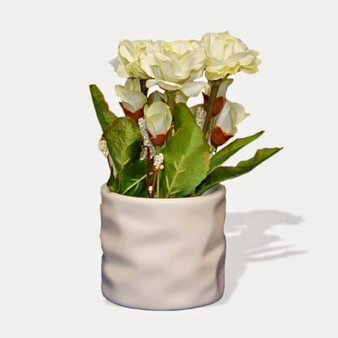 White Mini Flower Vase