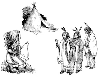 native american indian illustrations images drawings digital downloads