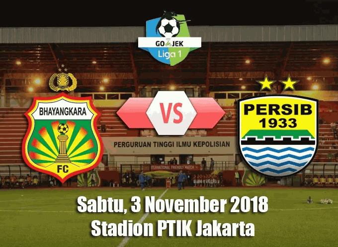 Jadwal Pertandingan LIVE Bhayangkara FC vs Persib Bandung di Indosiar