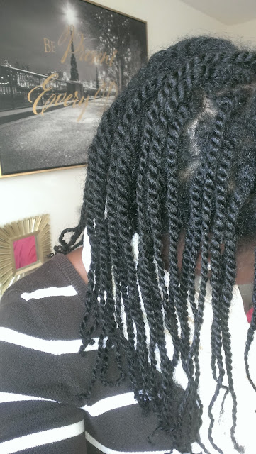 Mini twists on natural hair at week one