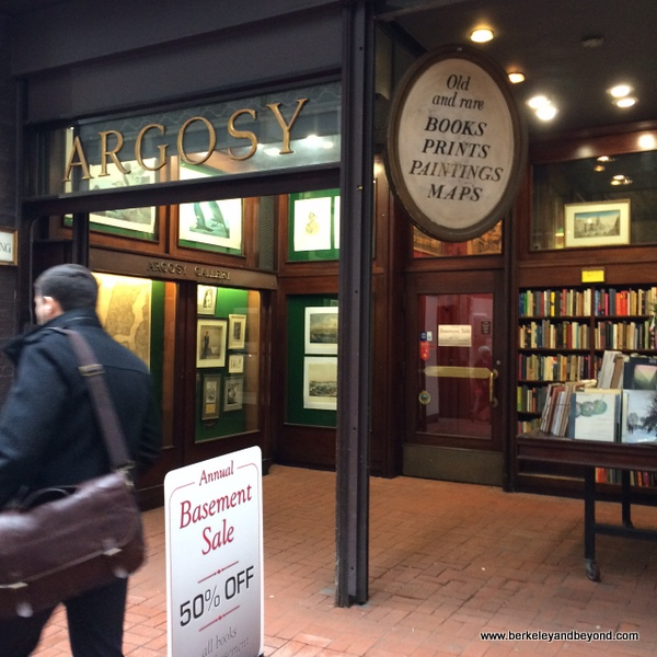entrance to Argosy Book Store in NYC