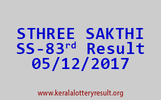 STHREE SAKTHI Lottery SS 83 Results 5-12-2017