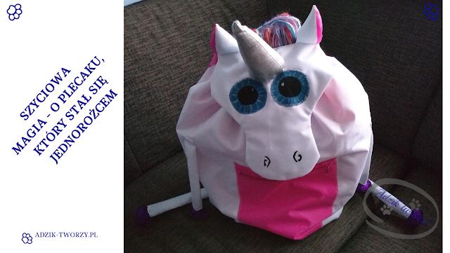Zaczarowany plecak DIY z zapięciem na magnes - czyli jak uszyć jednorożca
