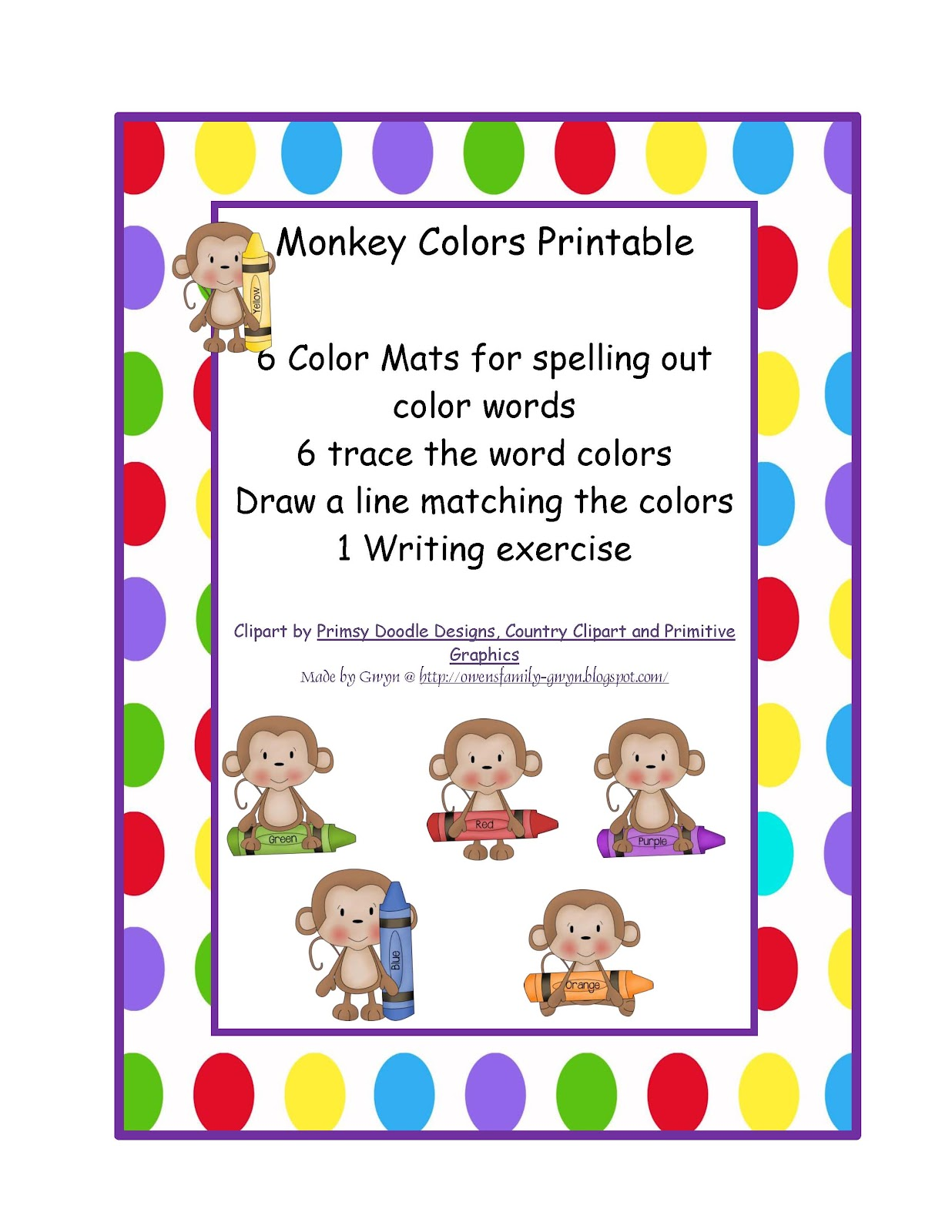 Preschool Printables July