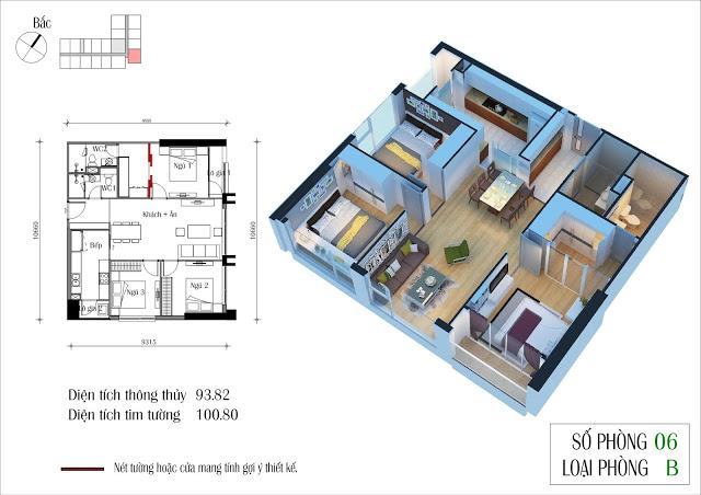 Thiết kế căn hộ của tôi, căn 06 toà CT4