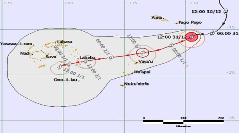 Strong wind and flood warning issued for most of Fiji