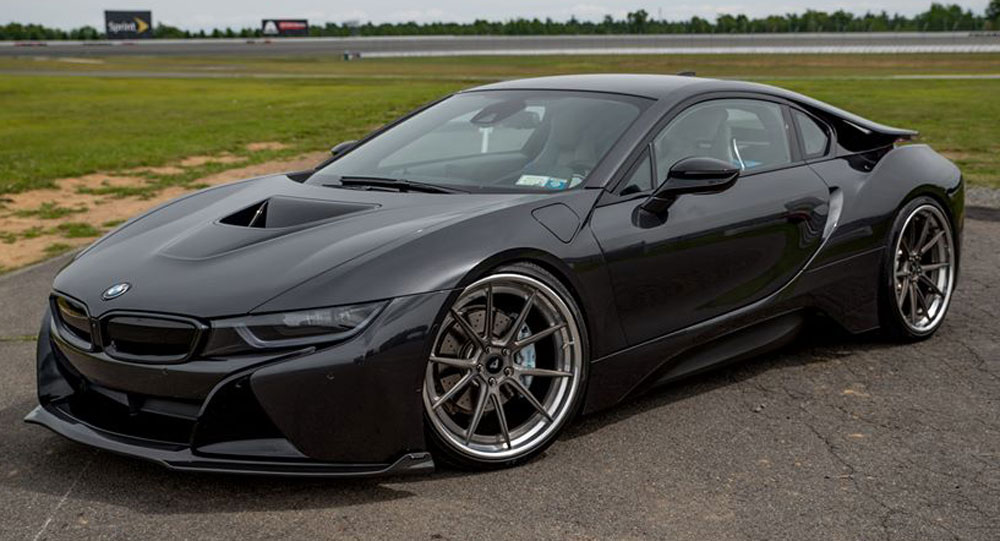 Vorsteiner Shows Off Stealthy All Black Bmw I8
