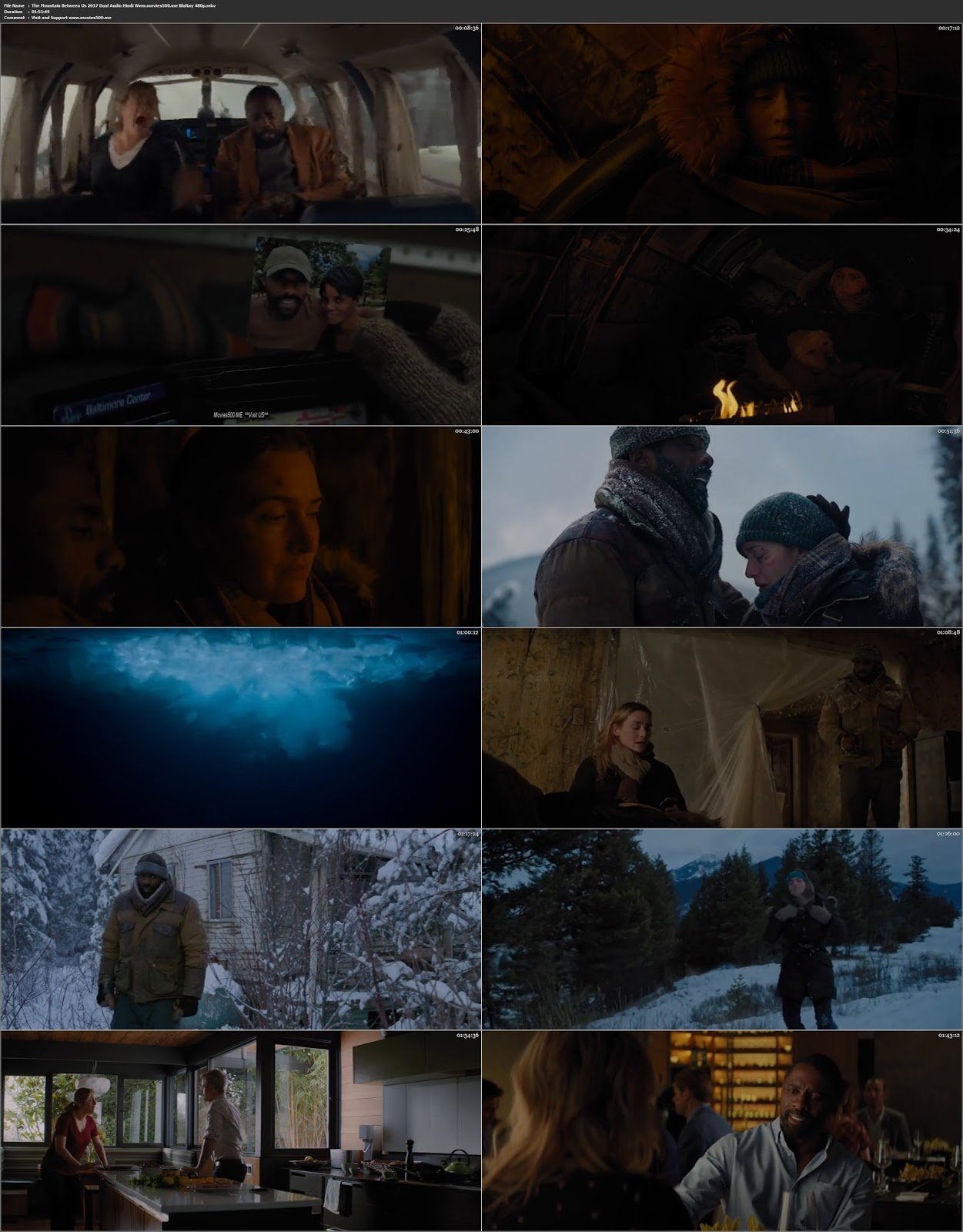 The Mountain Between Us 2017 Hindi 300MB Full Movie BluRay 480p at movies500.bid
