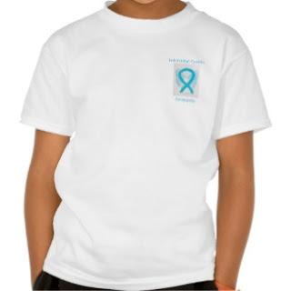 Interstitial Cystitis (IC) Awareness Ribbon Turquoise Angel Art Custom TShirt