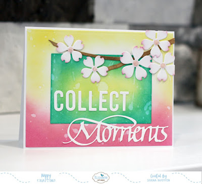 Collect Moments with Distress Oxide Background
