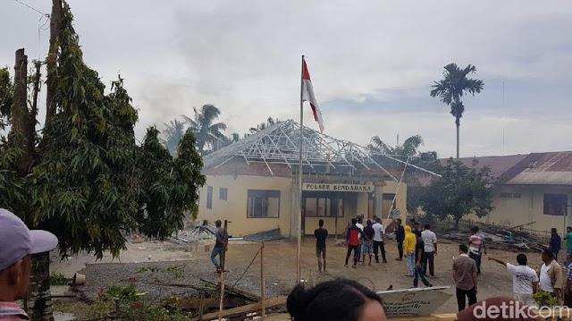 Begini Penampakan Mapolsek di Aceh yang Dibakar Massa