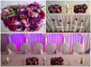 Weselna dekoracja sali z różami