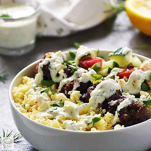 Greek Bowl with Meatballs