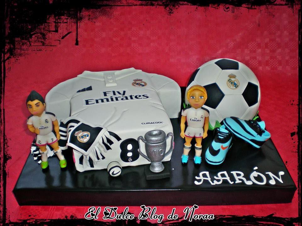 El Blog De Noraa Tarta Camiseta Y Balon De Futbol Real Madrid Para