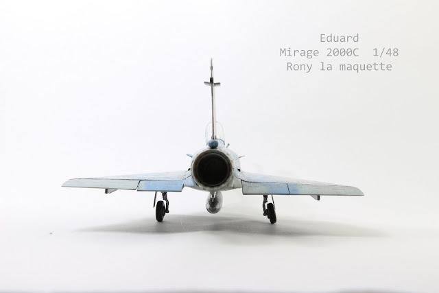 Maquette du Mirage 2000 C d'Eduard 1/48.