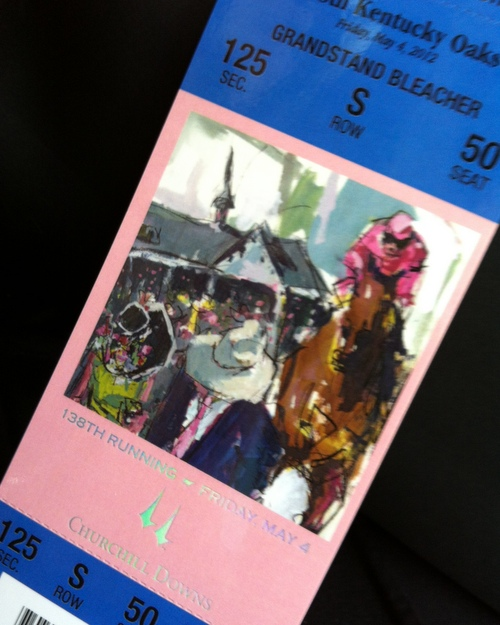 My ticket from the Kentucky Derby ♥ KitchenParade.com